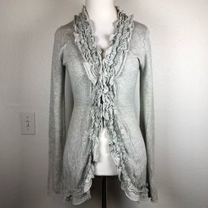 Anthropologie Guinevere ruffle cardigan small